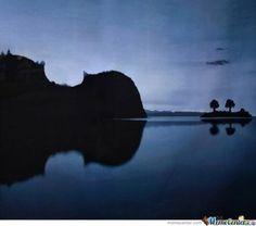 Island shaped like a cello