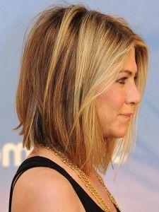 **Straight cut bob of Jennifer Aniston   **Straight  bob**