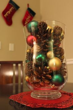 Love. Create. Celebrate. : Easy Christmas Centrepiece #Christmas #DIY #craft #pinecones #centrepiece