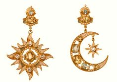 Sun & Moon Earrings by Diego Procussi Papi