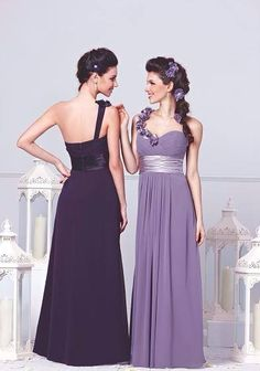 Love the darker purple for a bridesmaid's dress!