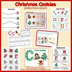 Christmas Cookies Preschool Pack