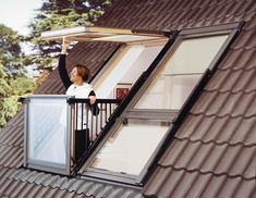 VELUX CABRIO GDL PK19 SD0L001 + Flashings for Slate up to 8mm - 940x2520mm « Condell Ltd