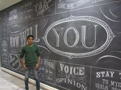 rajiv has done chalk walls for advertising agencies birthday invitations for interior designers and logos check grandiose advertising agency offices