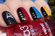 40 Great Nail Art Ideas Geeks Star Trek Nails More Polish