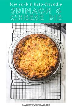 This keto spinach and cheese pie is the perfect make ahead option for breakfast and lunch. It's great for kids lunch boxes and work lunch. Best Keto Breakfast, Breakfast Options, Ketogenic Recipes, Low Carb Recipes, Cheese Pies, Low Carbohydrate Diet, Spinach And Cheese, No Sugar Foods, Lunch Boxes
