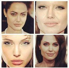 Брови, важная деталь лица! Быть они могут разными, или не быть). Брови добавляют характер! На примере Джоли хороши видно как меняется лицо с разными формами бровей. #брови #dominiqbeauty
