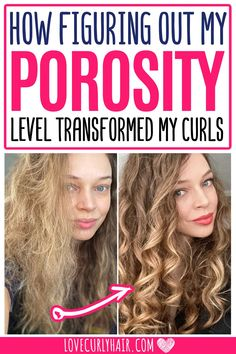 Curly Hair Types, Long Curly Hair, Wavy Hair, Hair Porosity Test, Low Porosity Hair Products, Hair Tips, Hair Hacks, Best Curly Haircuts, Porous Hair