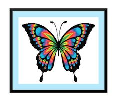 Rainbow Butterfly Modern Cross Stitch PDF Instant Download This PDF counted cross stitch pattern available for instant download. Floss: DMC Fabric: AIDA 14-count ( other AIDA Fabric Counts may be used, the finished pattern will be different in size) Number of Colors: 15 Full Cross stitches only Size: 350x 292 stitches ( 25.00 x 20.79 on 14 ct Aida) There is no background around the butterfly to be stitched. You can play around with different colors of Aida to see what you like best. Make ...