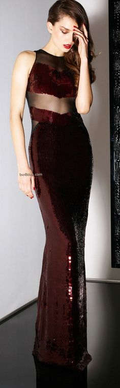 Essence of a Woman sequin burgundy gown