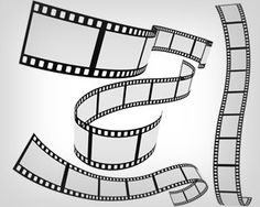 Stock vector Film strip 4 roll set   Vecto2000.com