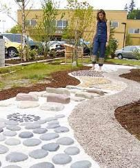All Things Wildly Considered: Healing Gardens and Stony Walks.  Aegis Living Corporation Office Path - Redmond, Washington