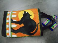 Halloween Trick or Treat Bag Scaredy Cat Candy by PerfectStitches