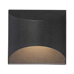 "Possini Euro Ratner 5 1/2"" High Black LED Outdoor Wall Light - #33H43 | Lamps Plus"