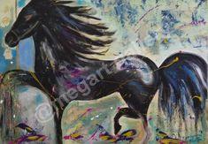 Artist: Konstantina Kratimenou Title: Black Hourses 100x70 dim mixedmedia price:510euro Joomla Templates, Fingerprints, Gallery, Artist, Painting, Black, Black People, Painting Art, All Black