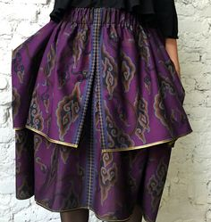 Designer double-layered Bali Starlight skirt. Made of ethnic cotton.