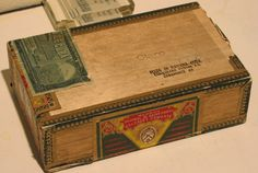 Cigar Box For Pencils and Crayons