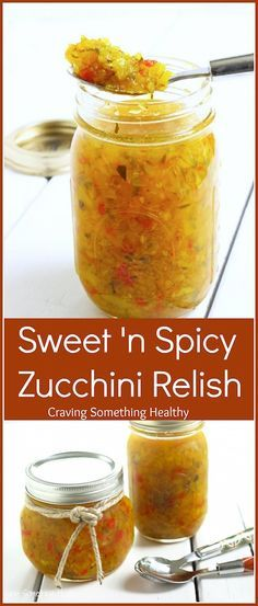 Sweet and Spicy Zucchini Relish - Refrigerator - Trending Refrigerator for sales. - Got extra zucchini? This delicious Sweet and Spicy Zucchini Relish is perfect for sandwiches burgers or anything else! Zucchini Relish Recipes, Zuchinni Recipes, Pickled Zucchini, Zucchini Salsa, Zuchini Relish, Zucchini Pickles, Jelly Recipes, Chutneys, Sweet N Spicy