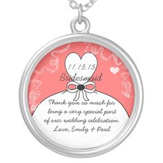 Shop Wedding Bridesmaid Keepsake Thank You Necklace created by samack. Bridesmaid Thank You, Wedding Bridesmaids, Our Wedding, Wedding Gifts, Wedding Necklaces, Celebrity Weddings, Flask, Holiday Decor, Keepsakes