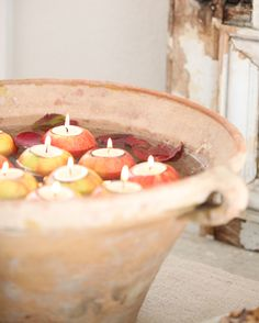 Decorating For Fall with Apples and a 19th Century French Tian Bowl