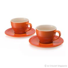 Products | Stoneware | Teapots, Cups & Mugs | Cappuccino Cup & Saucer | Le Creuset Singapore