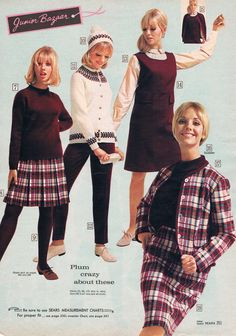Sears catalog 1966. Cay Sanderson. Plum and plaid.
