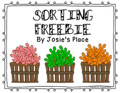 Great sorting activity for a math center! It's a FREEBIE!