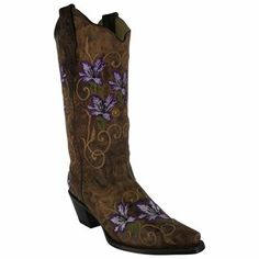 Corral Women's Floral Embroidered Western Boots I have made myself a promise--I will own these.