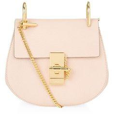 Chloé Mini Drew Shoulder Bag (11,555 HKD) ❤ liked on Polyvore