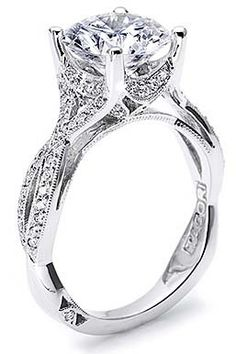 Tacori wedding ring.... beautiful. i couldn't have a diamond stand out that far though...i would definitely hit it on everything. :/