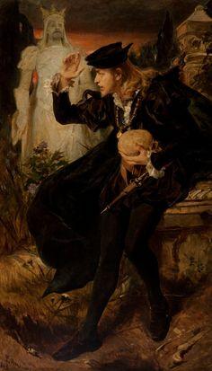Pedro Américo (Brazilian, 1843-1903), Hamlet's vision, 1893. Oil on canvas. Pinacoteca do Estado de São Paulo.