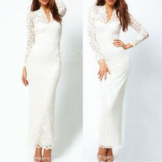 Lace dress with sleeves