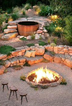 feuerstelle im garten steingarten gestalten: (Diy House Budget)