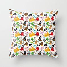 Cute pirate set.  Throw Pillow by EkaterinaP - $20.00