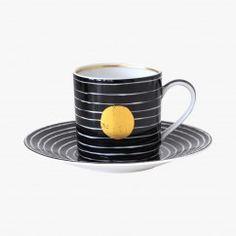 Aboro, Tasse et soucoupe café - BERNARDAUD