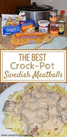Slow-Cooker Swedish Meatballs Crockpot Swedish meatballs, easy to make, family friendly dinner ideas, kid meals, budget friendly recipes. The post Slow-Cooker Swedish Meatballs & Dinner ideas appeared first on Easy dinner recipes . Crock Pot Recipes, Beef Recipes, Chicken Recipes, Recipies, Easy Baking Recipes, Healthy Recipes, Quick Recipes, Healthy Meals, Yummy Recipes
