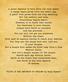 Faith is the Emperor of Dreams, Suzy Kassem