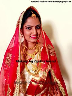Traditional Southern Indian bride, Namitha wears bridal silk saree and jewellery for her Muhuratam. Makeup and hairstyle by Vejetha for Swank Studio. Red and white silk sari. Tamil bride. Telugu bride. Kannada bride. Hindu bride. Malayalee bride. #BridalSareeBlouse #SariBlouseDesign  #GoldJewellery #RedLips #MaangTikka  Find us at https://www.facebook.com/SwankStudioBangalore