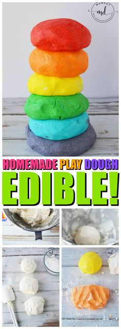 How to make edible homemade playdough with powdered sugar and frosting