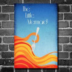 Disney Art The Little Mermaid Poster movie poster disney poster 11x17. $19.00, via Etsy.