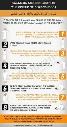 How To Perform Salatul Tasbih (Prayer of Forgiveness) Prayer For Forgiveness, Islamic Prayer, Islamic Teachings, Islamic Dua, Muslim Beliefs, Islam Religion, Islam Muslim, Islam Hadith, Spirituality