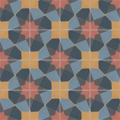 Des exemples de tapis de carreaux de ciment, avec Couleurs & Matières.