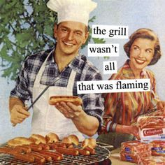 June should spend more time cooking and less time undressing MY husband with her eyes! She's cruisin' for a bruisin'! *CB* (image by Anne Taintor) Anne Taintor, Housewife Humor, Retro Housewife, Retro Humor, Vintage Humor, Funny Vintage, Retro Funny, Blunt Cards, Laugh Out Loud
