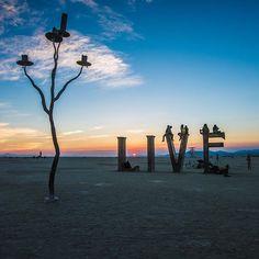 #live at #burningman photo by @peterruprecht sculpture by @laurakimpton