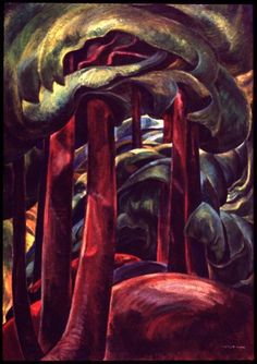 Emily Carr-Associated with The Group of Seven Canadian Tom Thomson, Canadian Painters, Canadian Artists, Abstract Landscape, Landscape Paintings, Emily Carr Paintings, Group Of Seven, Post Impressionism, Impressionist Paintings