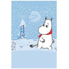 Moomin Postcard: Moominhouse in Winter