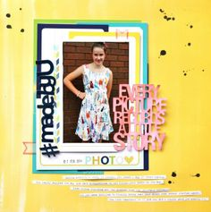 #MadeByU by Sharmaine www.cocoadaisy.com #scrapbooking #layout #scrapbook #kitclub #cocoadaisy