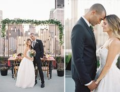 rooftop wedding reception inspiration