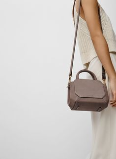 Women Crossbody Bag Soft PU Leather Mini Flap Bags Rivet Double Pocket Small Bag Women's bolsa feminina Shoulder Messenger Bags - A Stream Of Handbags Chain Shoulder Bag, Shoulder Bags, Shoulder Strap, Mini Handbags, Beautiful Bags, Small Bags, Mini Bag, Bag Accessories, Purses And Bags