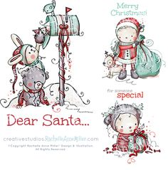 Christmas Stamps by Rachelle Anne Miller